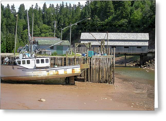 Low Tide On The Bay Of Fundy 2 Of 2 Greeting Card by Greg Rogers