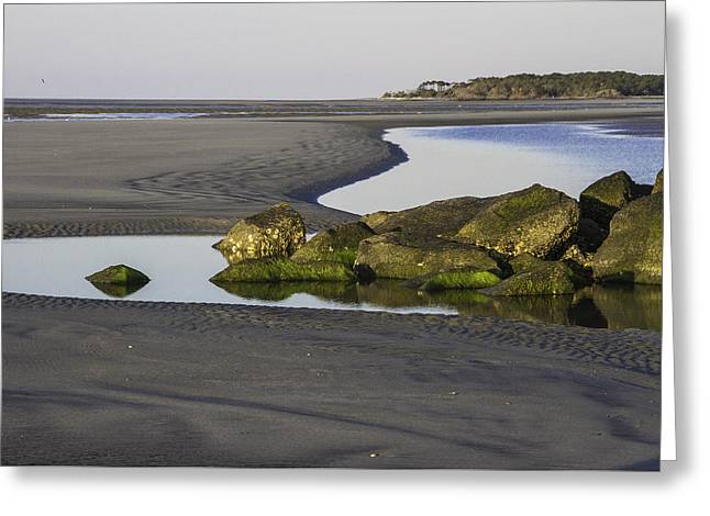 Low Tide On Tybee Island Greeting Card