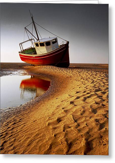 England Photographs Greeting Cards - Low Tide Greeting Card by Peter OReilly