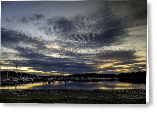 Low Tide Roche Harbor Greeting Card by Thomas Ashcraft