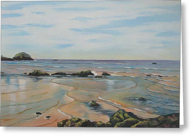 Low Tide-shelly Beach Greeting Card