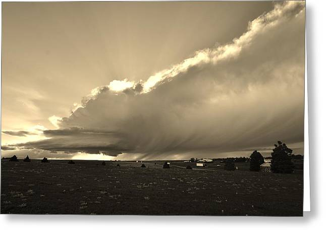Low-topped Supercell Black And White  Greeting Card