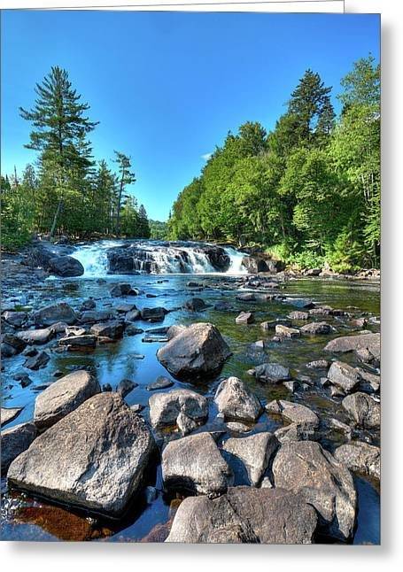 Low Water At Buttermilk Falls Greeting Card by David Patterson