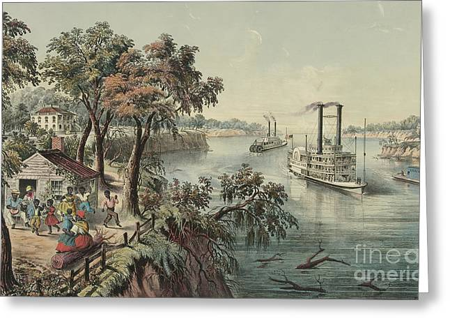 Low Water In The Mississippi, 1868  Greeting Card