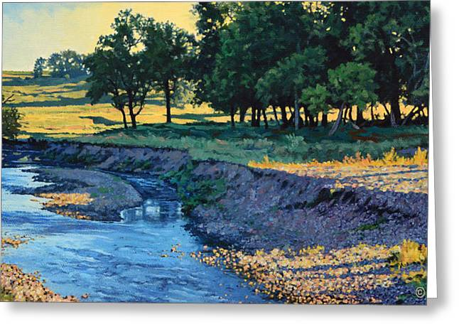 Low Water Morning Greeting Card