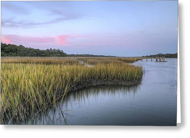 Tidal Greeting Cards - Lowcountry Marsh Grass on the Bohicket Greeting Card by Dustin K Ryan