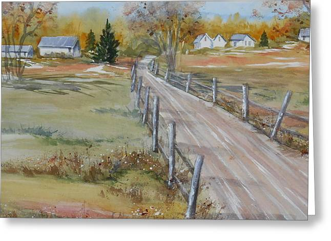 Lowcountry Road In Spring Greeting Card