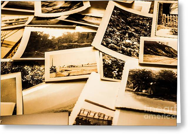 Lowdown On A Vintage Photo Collections Greeting Card by Jorgo Photography - Wall Art Gallery