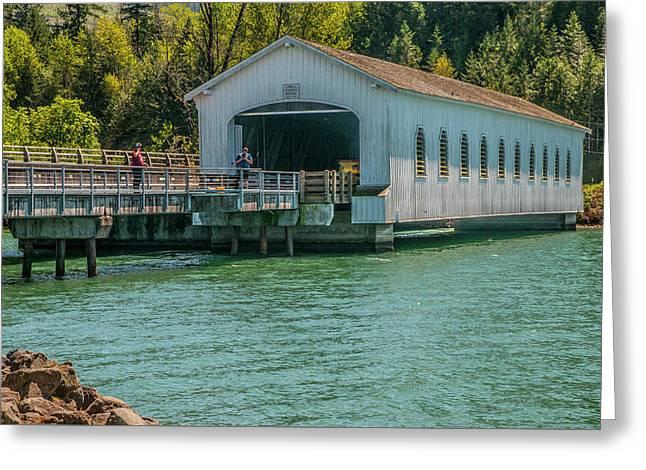 Lowell Covered Bridge Greeting Card