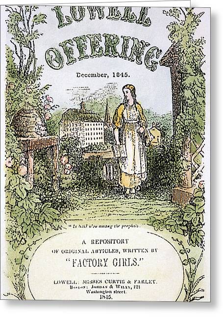 Lowell Offering, 1845 Greeting Card by Granger
