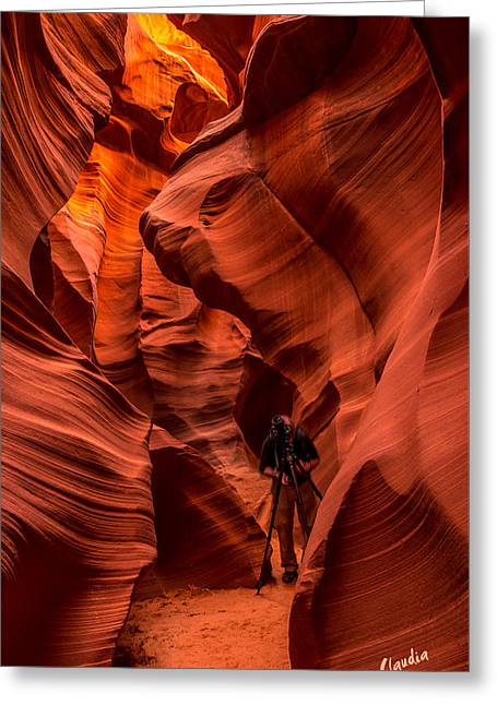 Greeting Card featuring the photograph Lower Antelope Canyon by Claudia Abbott
