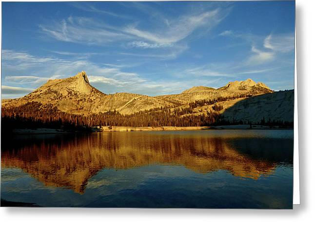Lower Cathedral Lake Late Afternoon Greeting Card