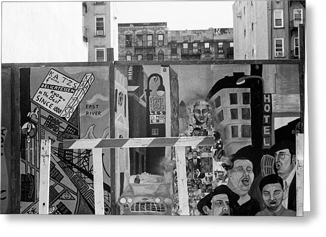 Greeting Card featuring the photograph Lower East Side Mural by Dave Beckerman