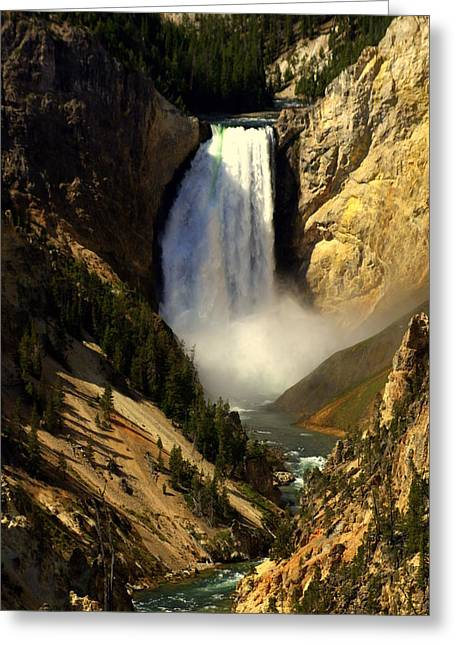 Marty Koch Photographs Greeting Cards - Lower Falls 2 Greeting Card by Marty Koch