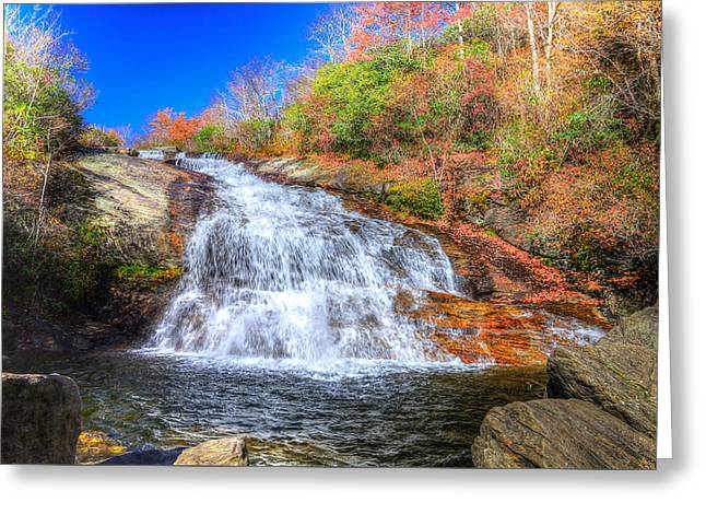 Lower Falls At Graveyard Fields Greeting Card