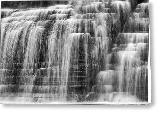 Lower Falls Cascade Greeting Card by Stephen Stookey