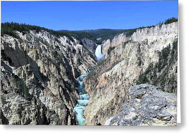 Lower Falls From Artist Point Greeting Card