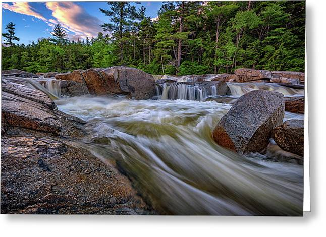 Greeting Card featuring the photograph Lower Falls Of The Swift River by Rick Berk