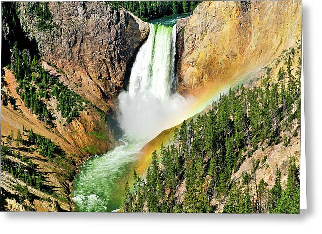 Lower Falls Rainbow Greeting Card by Greg Norrell