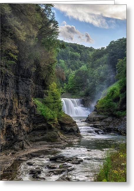 Lower Falls - Summer Greeting Card
