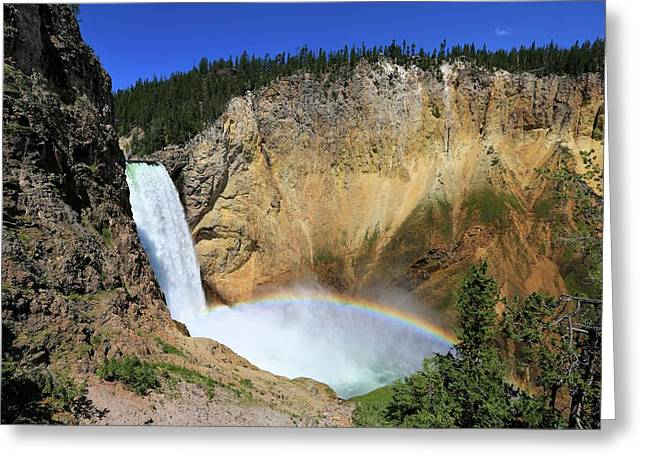 Lower Falls With A Rainbow Greeting Card