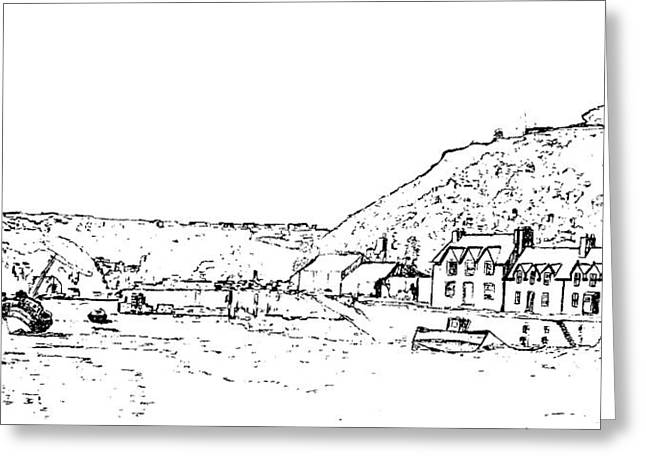 Lower Fishguard Greeting Card by Frank Hamilton
