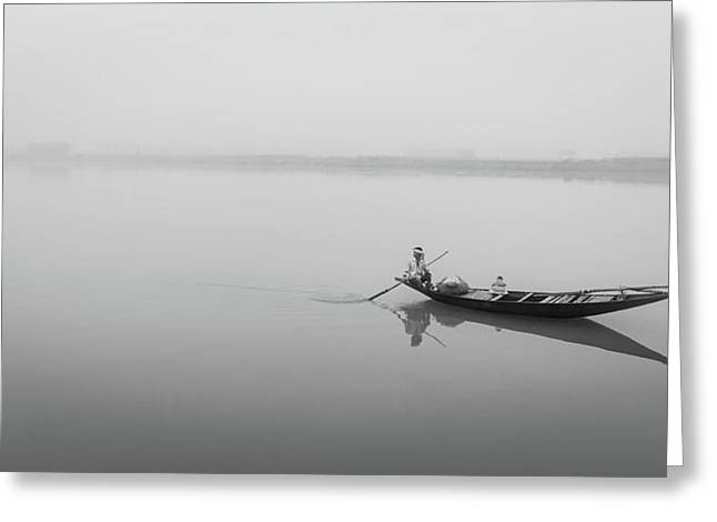 Lower Ganges - Misty Morinings Greeting Card
