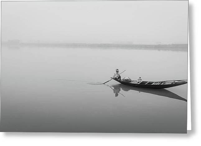 Lower Ganges - Misty Morinings Greeting Card