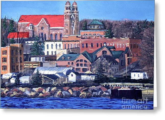 Lower Harbor-marquette Michigan Greeting Card
