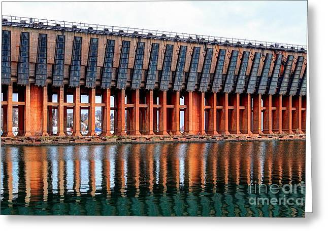Lower Harbor Ore Dock, Marquette, Michigan Greeting Card by John December