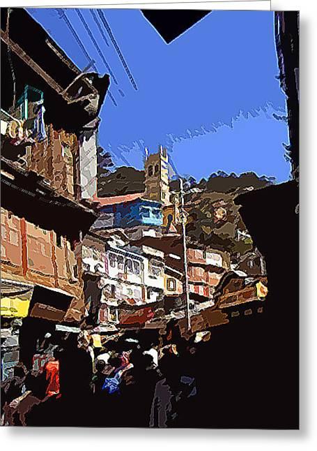 Lower Mall Shimla Greeting Card