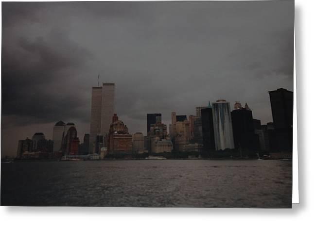 Lower Manhattan Greeting Card by Rob Hans