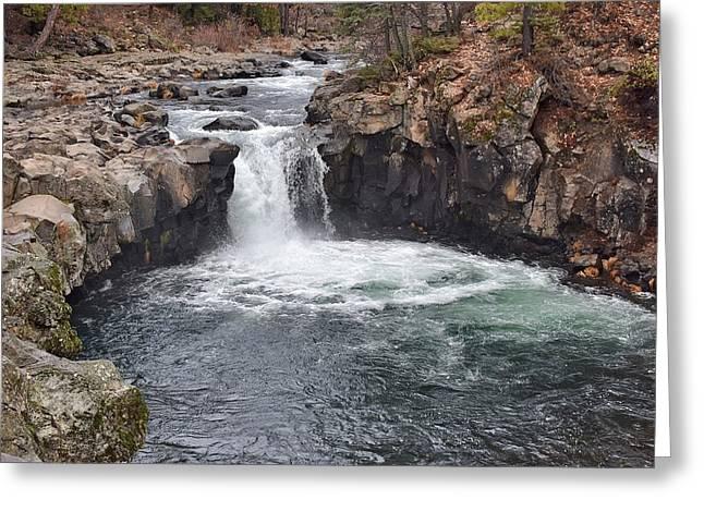 Lower Mccloud Falls Greeting Card