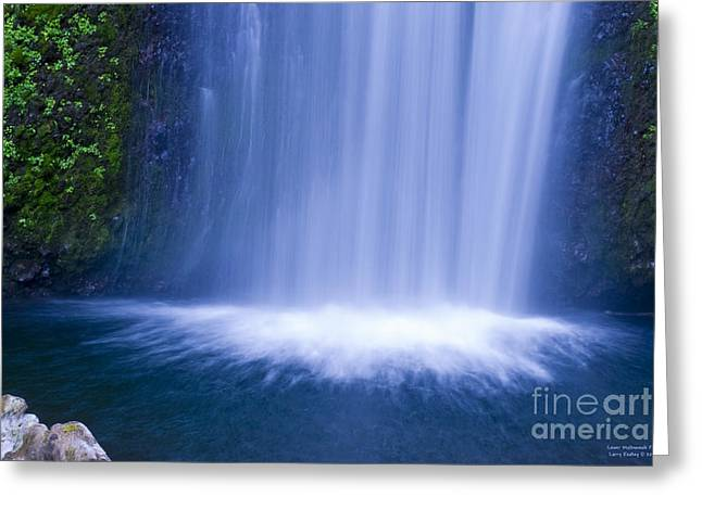 Lower Multnomah Falls Greeting Card by Larry Keahey