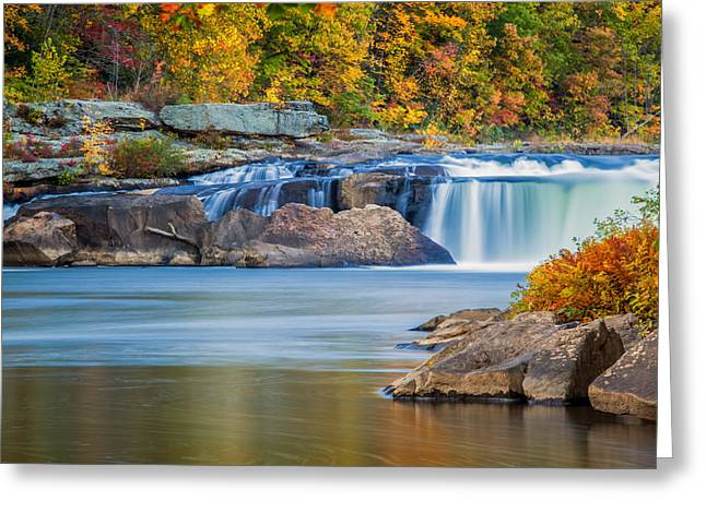 Pa Greeting Cards - Lower Ohiopyle Falls Greeting Card by Jennifer Grover