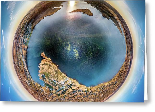 Greeting Card featuring the photograph Lower Phantom Lake Little Planet by Randy Scherkenbach