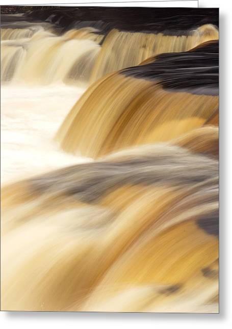Lower Tahquemenon Falls Greeting Card by Amanda Kiplinger