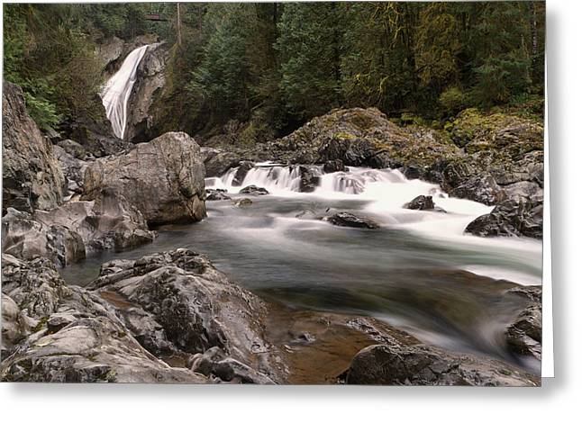 Greeting Card featuring the photograph Lower Twin Falls by Jeff Swan