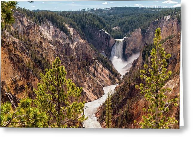 Lower Yellowstone Canyon Falls 5 - Yellowstone National Park Wyoming Greeting Card