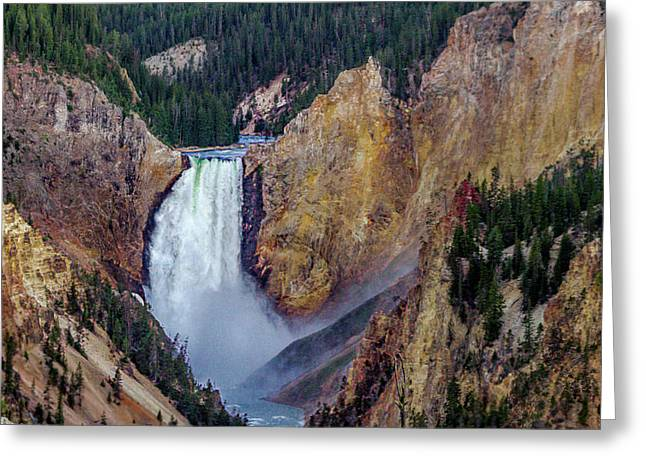 Lower Yellowstone Falls II Greeting Card