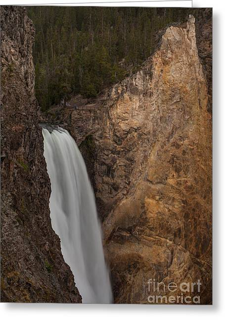Lower Yellowstone Waterall Greeting Card