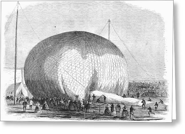 Lowes Balloon, 1859 Greeting Card
