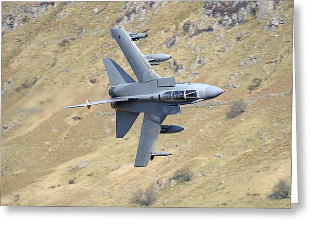 Lowflying Tornado In The Welsh Hills 01 Greeting Card by Barry Culling
