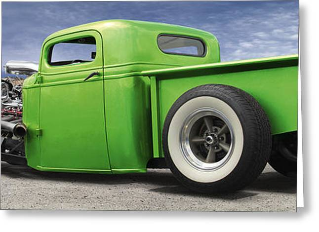Lowrider At Painted Desert Greeting Card by Mike McGlothlen
