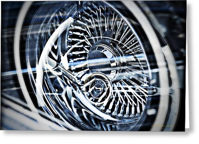 Lowrider Wheel Illusions 1 Greeting Card