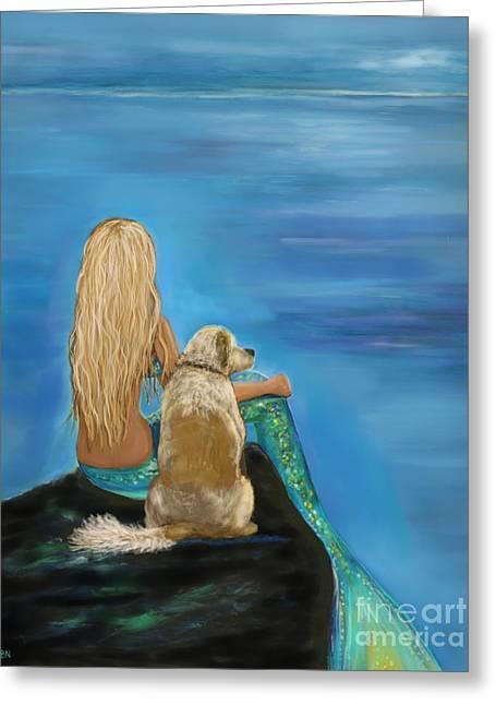 Loyal Mermaids Friend Greeting Card