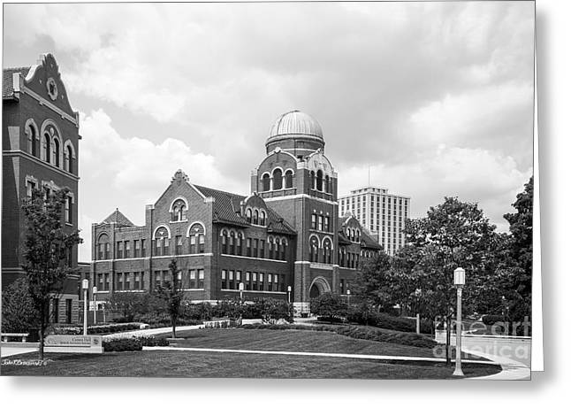 Loyola University Chicago Cudahy Science Hall Greeting Card by University Icons