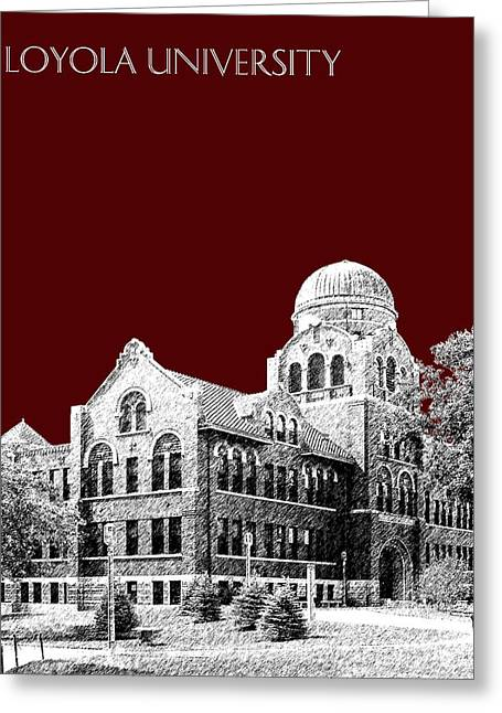 Loyola University Version 2 Greeting Card by DB Artist