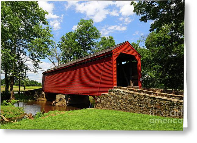 Loys Station Covered Bridge Frederick County Maryland Greeting Card