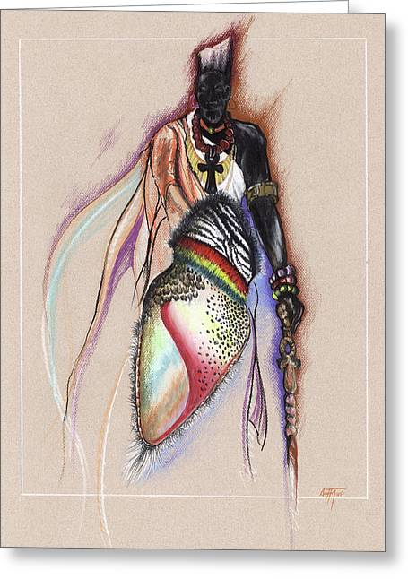 Lrp The Black Man Greeting Card by Anthony Burks Sr